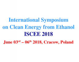 International Symposium on Clean Energy from Ethanol ISCEE 2018